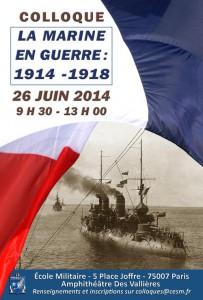 Colloque « La marine en guerre : 1914-1918 »
