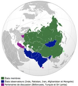 En prenant en compte l'Inde, le Pakistan, l'Iran et la Mongolie qui rejoindront l'alliance de plein pied cette année, c'est 40% de la population mondiale - dont les deux pays les plus peuplés de la planète -, près de 40 millions de km², quatre puissances nucléaires – et peut-être cinq si l'Iran parvient à acquérir la bombe -, les deuxième et troisième armées de la planète