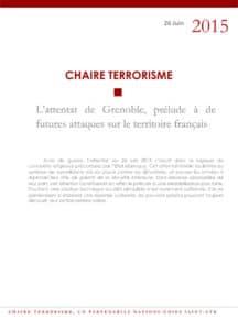 L'attentat de Grenoble, prélude à de futures attaques sur le territoire français