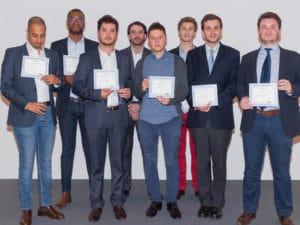 Les trois équipes récompensées lors de la remise des prix le 26 mai 2016.