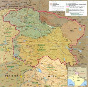 Carte du Cachemire
