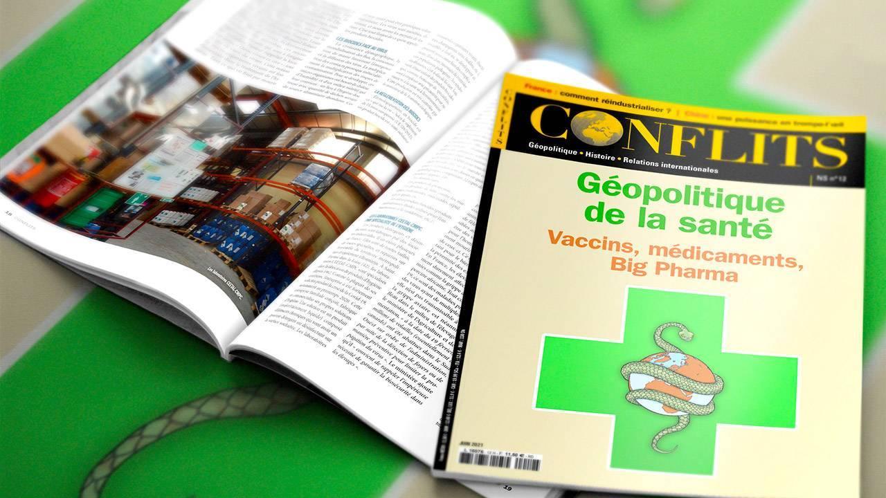 Géopolitique de la santé. Vaccins, médicaments, big pharma... Découvrez le nouveau hors série de Conflits consacré à l'industrie pharmaceutique.