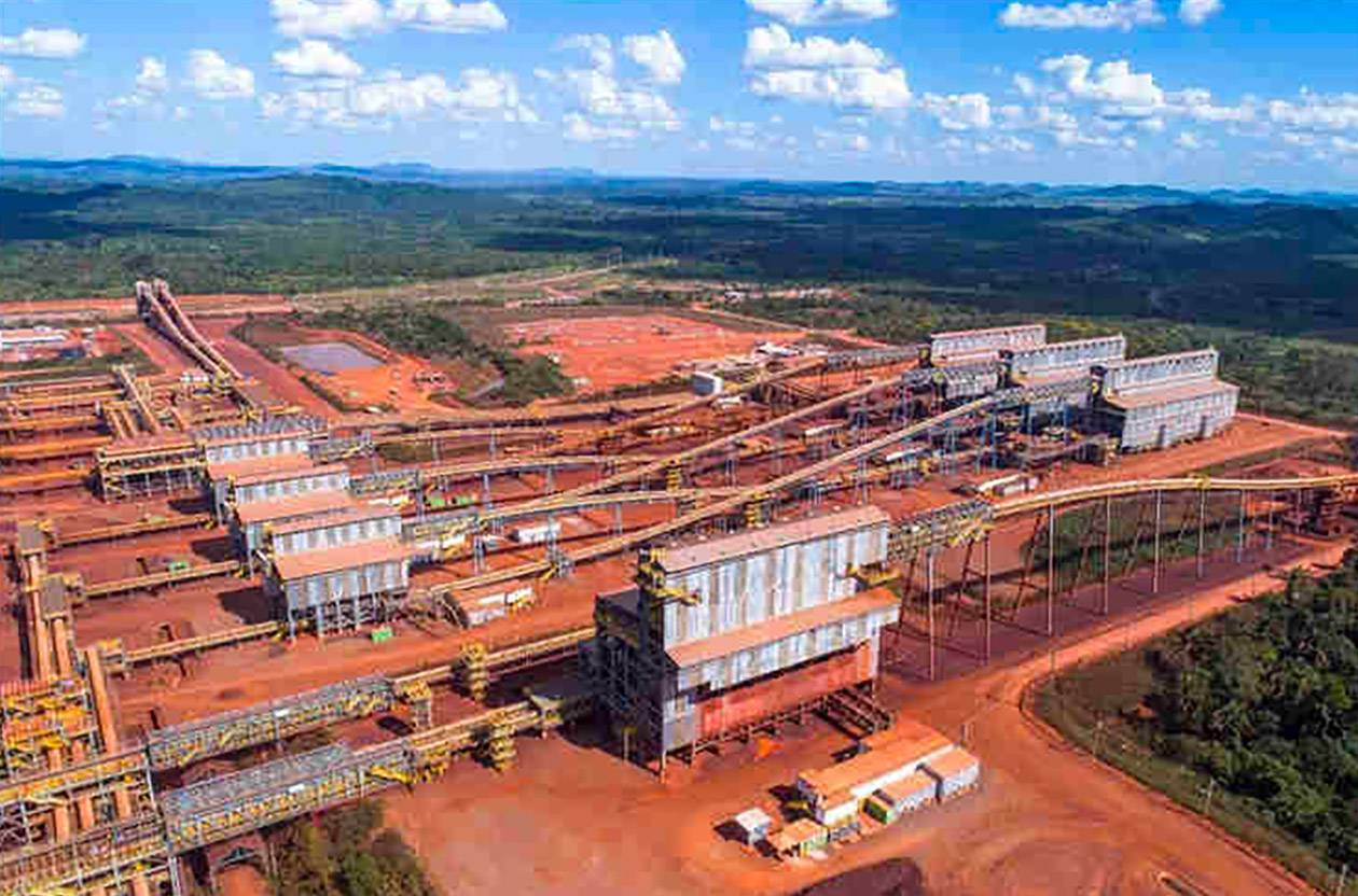 Le site de traitement du minerai de fer de Carajas (programme SIID) de Vale (ouvert en 2017).